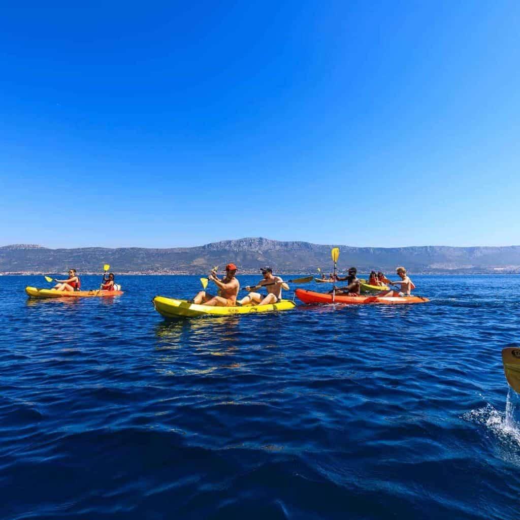 Sea kayaking and snorekling in Split