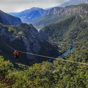 Zip Line over the Cetina River