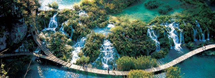 Footpaths on the Plitvice Lakes