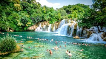 Last chance to swim in the NP Krka