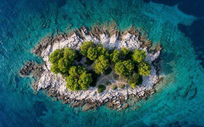 Small island in Croatia