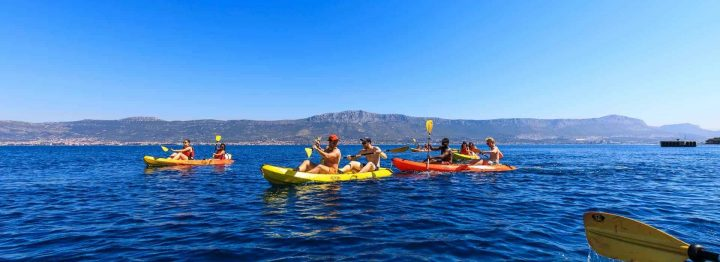 Sea kayaking and snorekling in Split