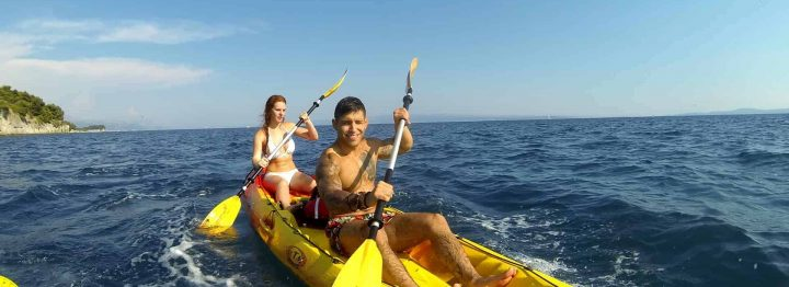 Sea kayak excursion in Split