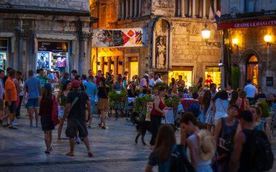 Split vibrant city