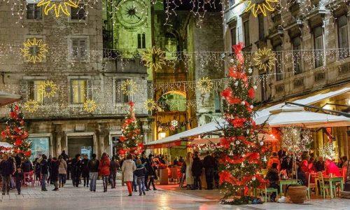 Christmas market in Split in 2019
