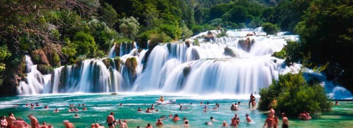Skradinski Buk waterfall is located in the Krka National Park