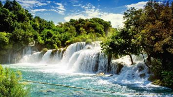Waterfalls Krka in Sibenik, Croatia