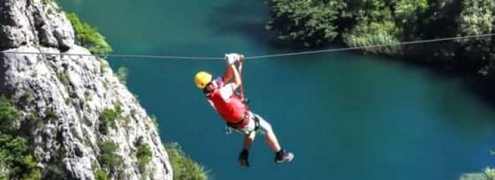 Zipline in Omiš is the most attractive adventure tour